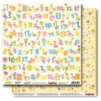 Лист двусторонней бумаги 30,5*30,5 см из коллекции Басик малыш от ScrapBerry's