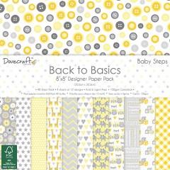 Набор бумаги Back to Basics Baby Steps, 20 × 20 см, Dovecraft
