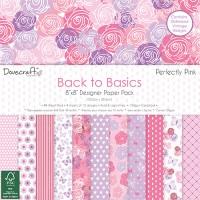 Набор бумаги Back to Basics Perfectly Pink, 20 × 20 см, Dovecraft