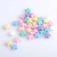 Бусины звёзды 10 мм нежный микс 5 шт