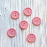 Пуговки розовые 20 мм