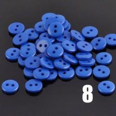 Пуговки синие 9 мм
