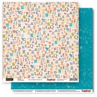 Лист двусторонней бумаги 30,5*30,5 см из коллекции Басик от ScrapBerry's