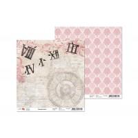 Лист двусторонней бумаги 30x30 от ROSA из коллекции Romantic time 2
