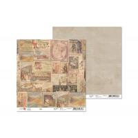 Лист двусторонней бумаги 30x30 от ROSA из коллекции Trip 1