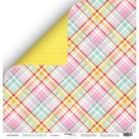 Лист двусторонней бумаги 30x30 от Scrapmir Конфетка из коллекции Sweet Girls