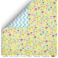 Лист двусторонней бумаги 30x30 от Scrapmir Полевые цветы из коллекции Sweet Girls