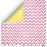 Лист двусторонней бумаги 30x30 от Scrapmir Пудра из коллекции Sweet Girls