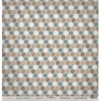 Лист односторонней бумаги 30x30 от Scrapmir Снежинки из коллекции Rustic Winter