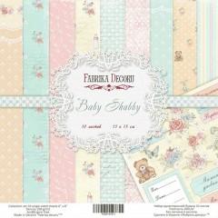 "Набор скрапбумаги ""Baby Shabby"", 15 Х 15 см, Фабрика Декору"