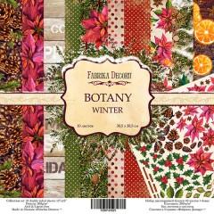"Набор скрапбумаги ""Botanica winter"", 30,5 Х 30,5 см, Фабрика Декора"