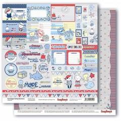 Бумага для скрапбукинга 30,5х30,5 см Морские приключения от ScrapBerry's