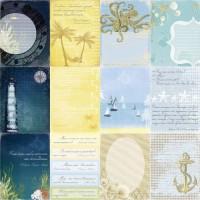 Лист двусторонней бумаги 30*30 см из коллекции Морские глубины от ScrapBerry's