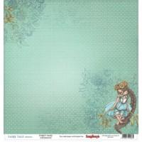 Лист двусторонней бумаги 30*30 см из коллекции Сказка про Фей от ScrapBerry's