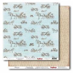 Лист двусторонней бумаги 30*30 см из коллекции Версаль от ScrapBerry's