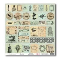 Лист односторонней бумаги 30*30 см из коллекции Версаль от ScrapBerry's