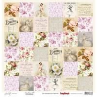 Лист односторонней бумаги 30,5*30,5 см из коллекции Джульетта от ScrapBerry's
