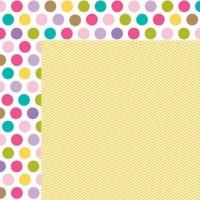 Лист двусторонней бумаги 30*30 см из коллекциии Miles of Smiles, Birthday Girl от Bella BLVD