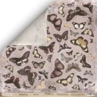 Лист двусторонней бумаги 30x30 от Scrapmir Бабочки из коллекции Charming (Очарование)