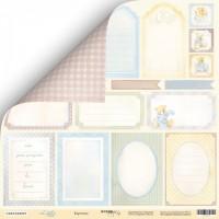 Лист двусторонней бумаги 30x30 от Scrapmir Карточки из коллекции Little Bear