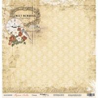 Лист односторонней бумаги 30x30 от Scrapmir Птичка из коллекции Музыка Любви