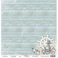 Лист односторонней бумаги 30x30 от Scrapmir Якорь из коллекции Море