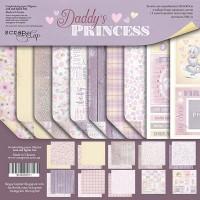 Набор двусторонней бумаги 20х20см от Scrapmir Daddy's Princess