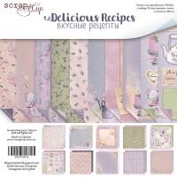 Набор двусторонней бумаги 20х20см от Scrapmir Delicious Recipes 10 листов