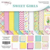 Набор двусторонней бумаги 20х20см от Scrapmir Sweet Girls 10 листов