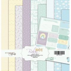 Набор односторонней бумаги 20х20см от Scrapmir Baby Boy 10 листов