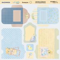 Лист двусторонней бумаги 20х20см Конверты Little Bear от Scrapmir
