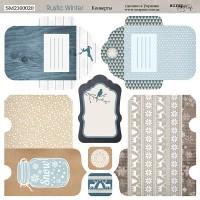 Лист двусторонней бумаги 20х20см Конверты Rustic Winter от Scrapmir