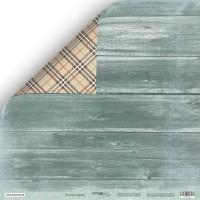 Лист двусторонней бумаги 30x30 от Scrapmir Зелёное дерево из коллекции Nordic Spirits