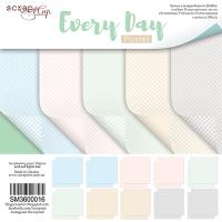 Набор двусторонней бумаги 20х20см от Scrapmir Every Day (Pastel) 10 листов