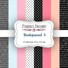 "НАБОР СКРАПБУМАГИ ""BACKGROUNDS 5"", 15X15СМ, ФАБРИКА ДЕКОРУ"