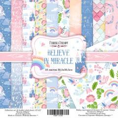 "НАБОР СКРАПБУМАГИ ""BELIEVE IN MIRACLE"", 30,5X30,5СМ, ФАБРИКА ДЕКОРУ"