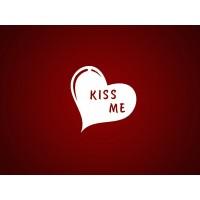 """Чипборд """"Сердце Kiss me"""""""