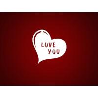 """Чипборд """"Сердце Love you"""""""