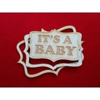 "Чипборд ""It's a baby"""