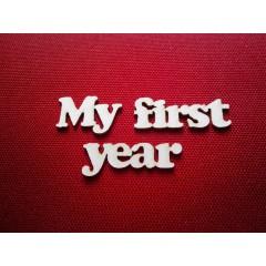 """Чипборд """"My first year"""""""
