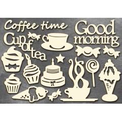 "Набор чипбордов ""Coffee time"", 10см х 15см"