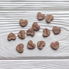 Деревянные сердца 15*13 мм