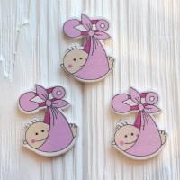 Малыш в свёртке розовый 4,2*3,2 см