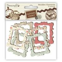 Рамки деревянные Curiosity Corner, Dovecraft,12 шт