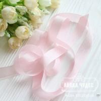 Шебби - лента 14 мм Baby pink № 16 (цена за 1 ярд)