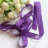 Шебби - лента 14 мм Pansy Purple № 4 (цена за 1 ярд)