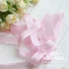 Шебби - лента 14 мм Pink tulip № 6 (цена за 1 ярд)