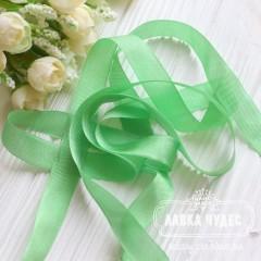 Шебби - лента 14 мм Spreen green № 10 (цена за 1 ярд)