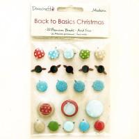 Брадсы Dovecraft Back to Basics Christmas Modern - Brads