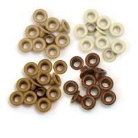 Люверсы Standard Eyelets - Aluminum Brown, 60 шт, 4,7 мм